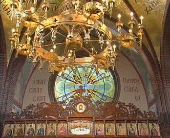 Central-Candelabre<BR>'Holy, Holy, Holy, is the Lord Zebaoth'<BR>upper Iconostas