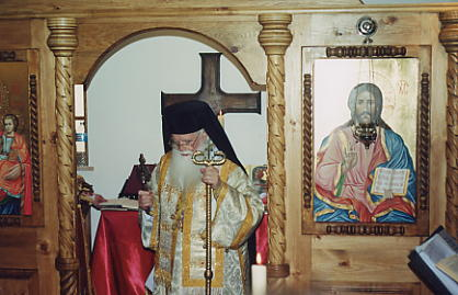 M. SIMEON at the end of the first Divine Liturgy in the new chapel of Saint JOHN of RILA, Lissabon