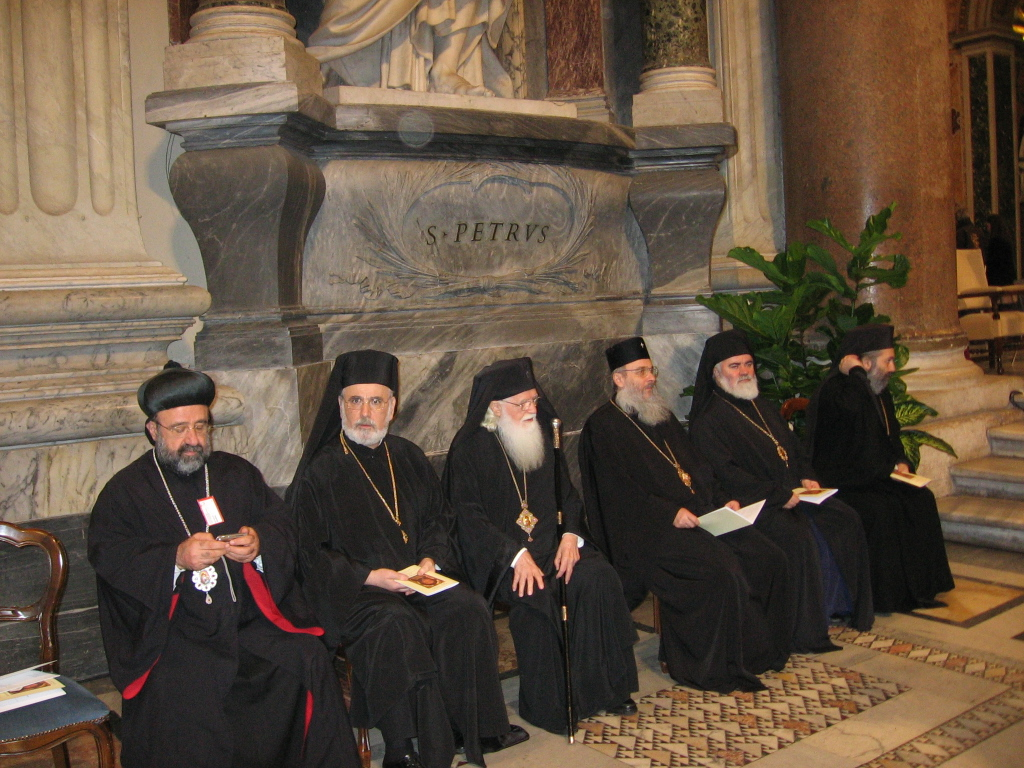 Orthodox Bishops in Roman St.Peter Cathedral