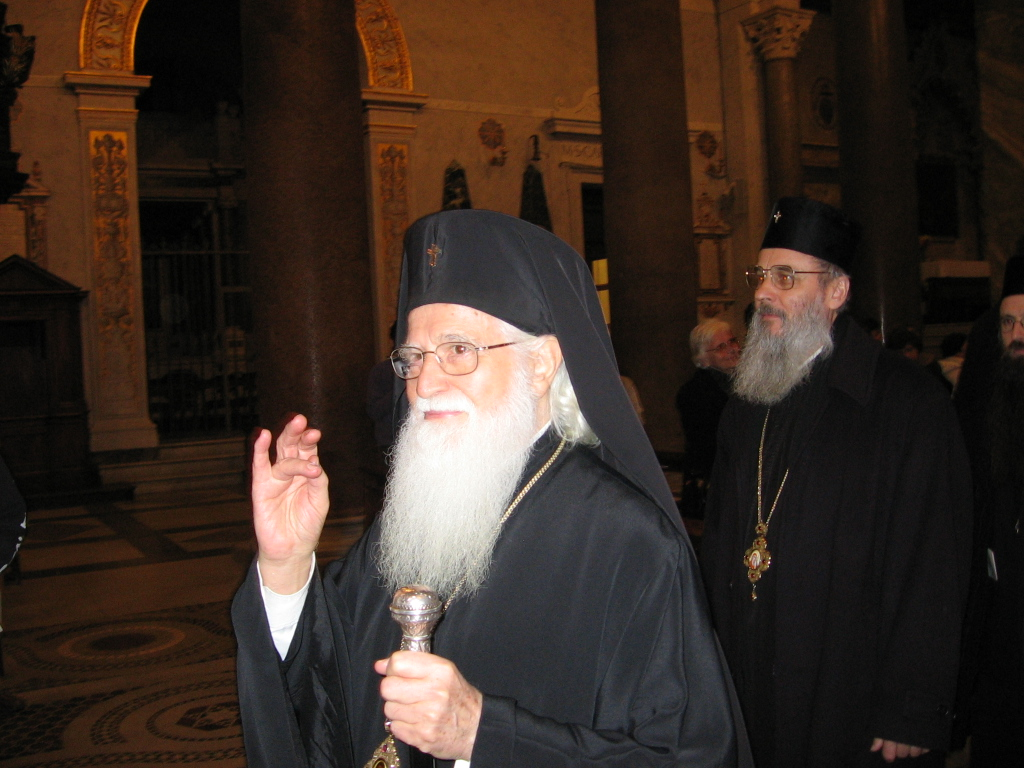 Bulgarian Orthodox Metropolitan Bishop SIMEON (blessing) and Roumanian Orthodox Metropolitan SERAFIM
