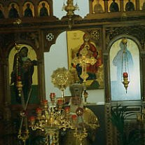 Bulgarian Orthodox Archbishop Metropolit SIMEON of Western and Central Europe at Blessing of the Holy Altar 1994